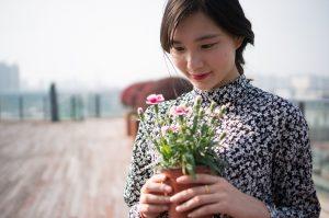 floral digital printed dress